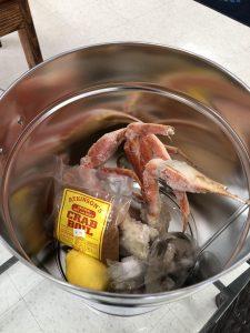 ingredients in steamer pot