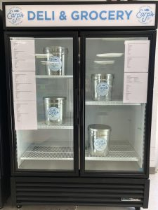 steamer pots in display refrigerator